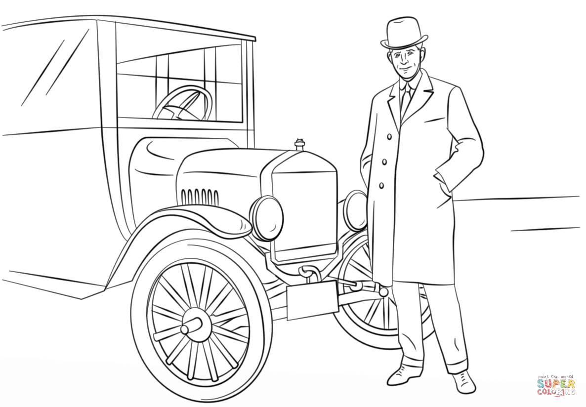 Henry Ford Coloring Pages