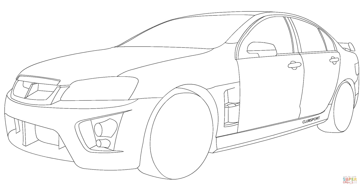 Holden Hsv Clubsport Coloring Page