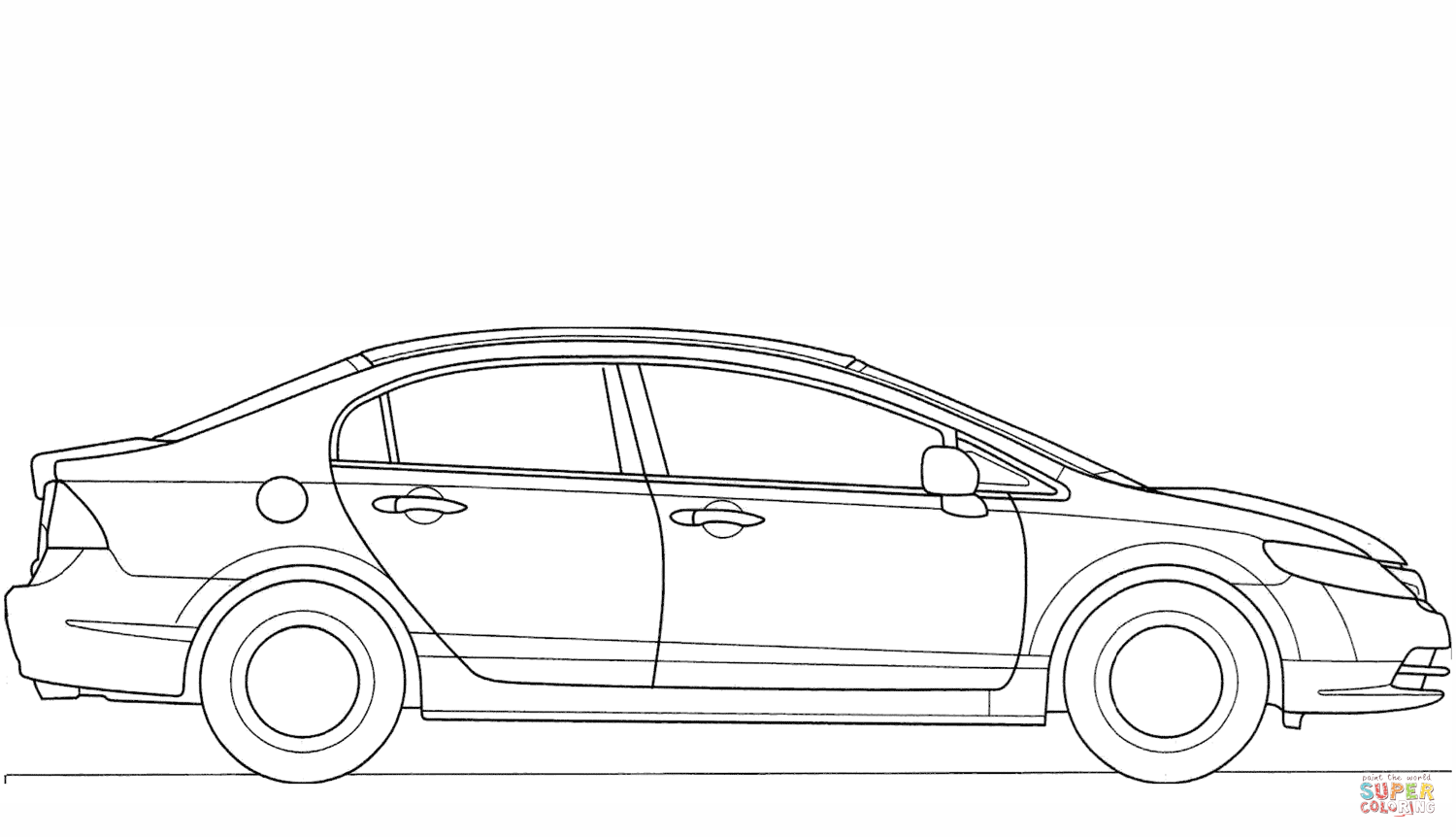 Honda Civic Coloring Page