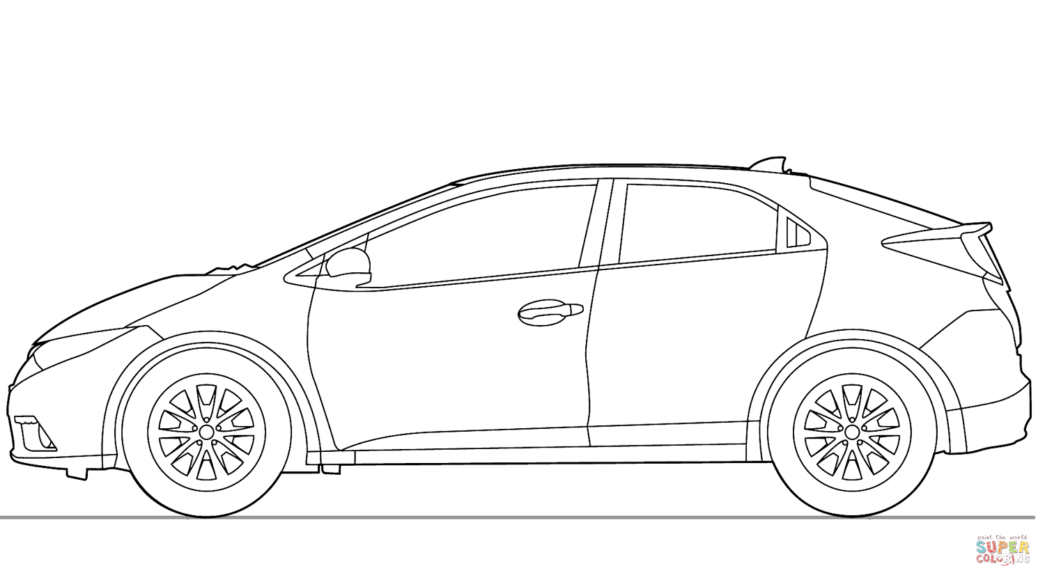Honda Civic 5 Door Coloring Page