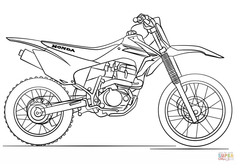 Disegno Di Moto Da Cross Honda Da Colorare
