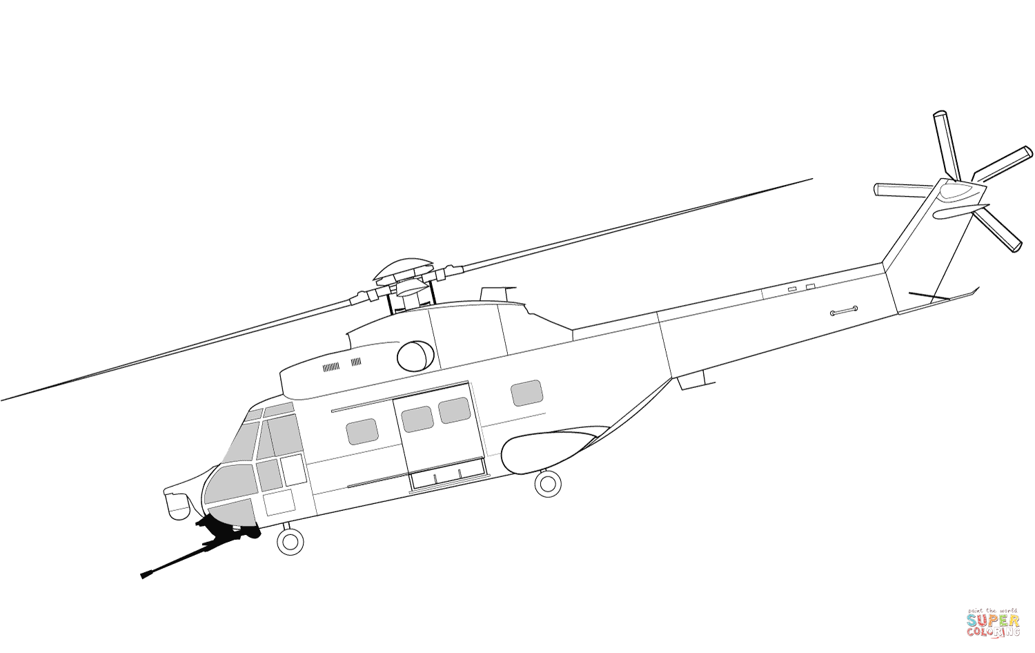 Black Hawk Helicopter Pages Coloring Pages