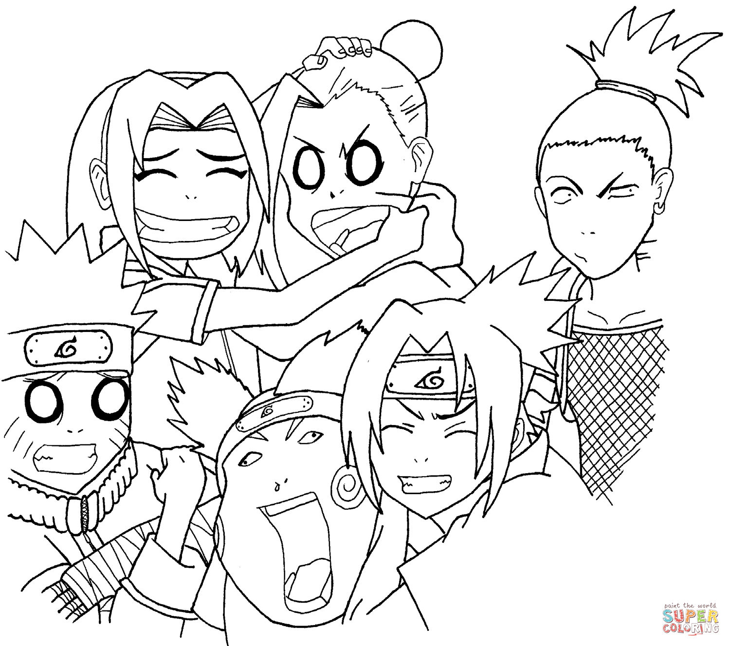 Naruto Coloring Pages Free Coloring Pages