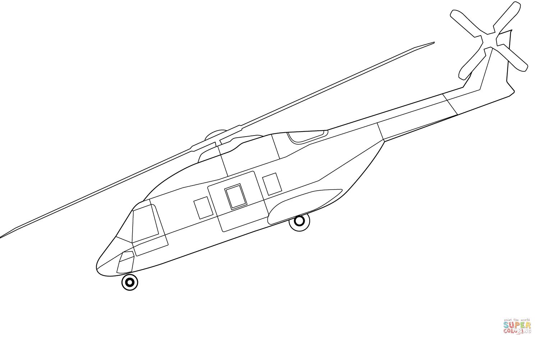 Kolorowanka Helikopter Nh90