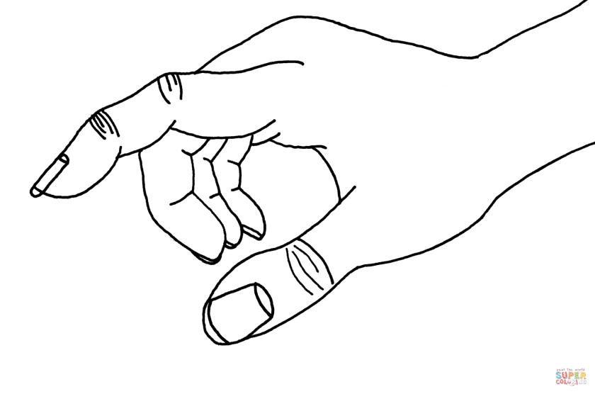 ausmalbild zeigen mit der hand  ausmalbilder kostenlos
