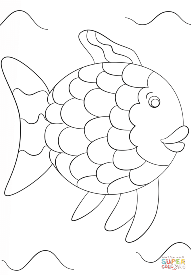 Rainbow Fish Printable Coloring Pages   Coloring Page for kids