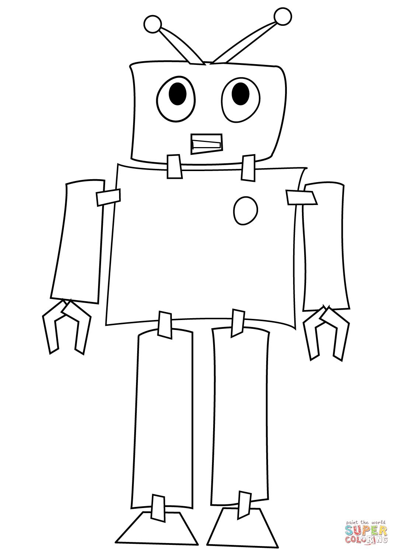 Disegno Di Robot Timido Da Colorare