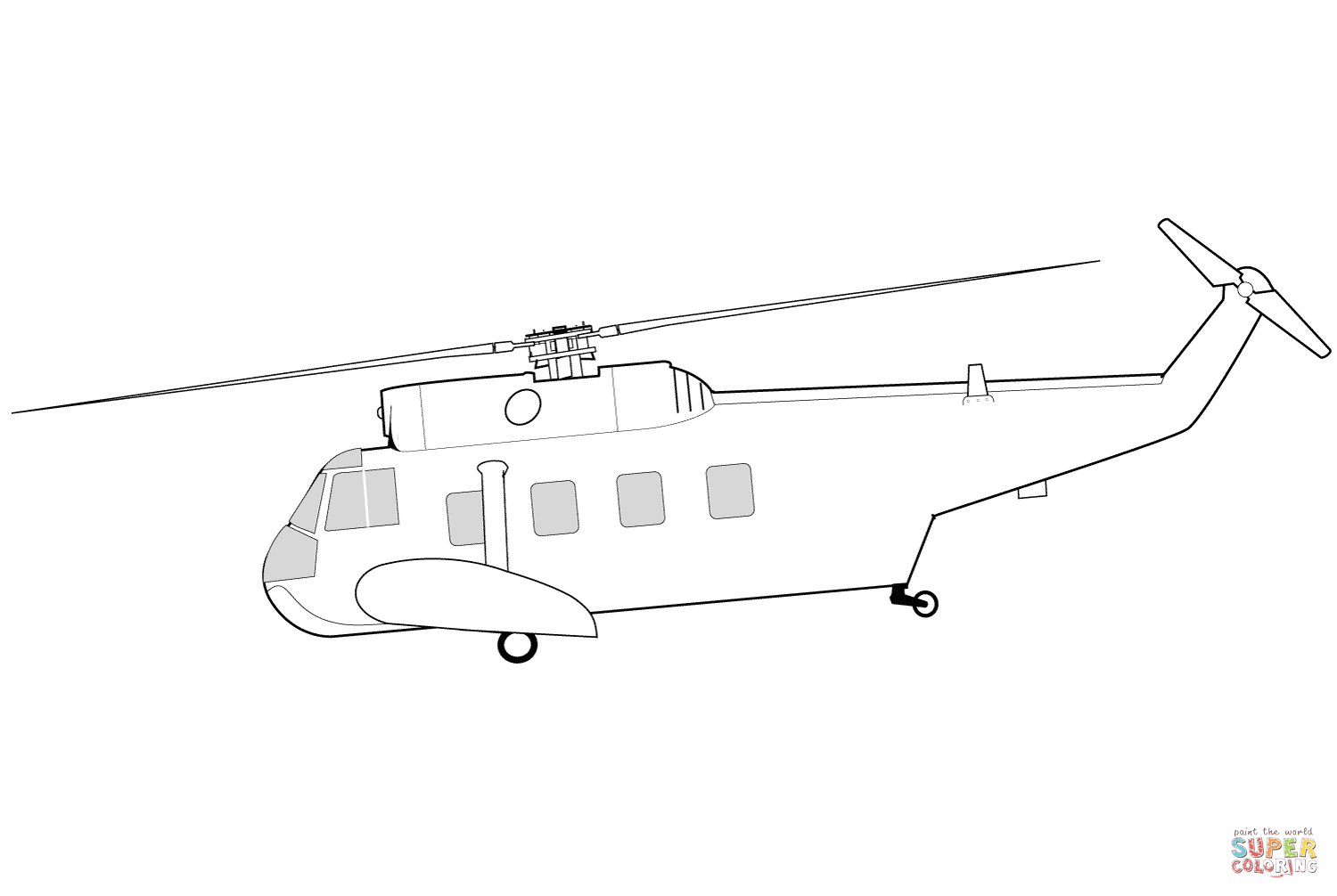 Sikorsky Hh 52 Seaguard Helicopter Coloring Page