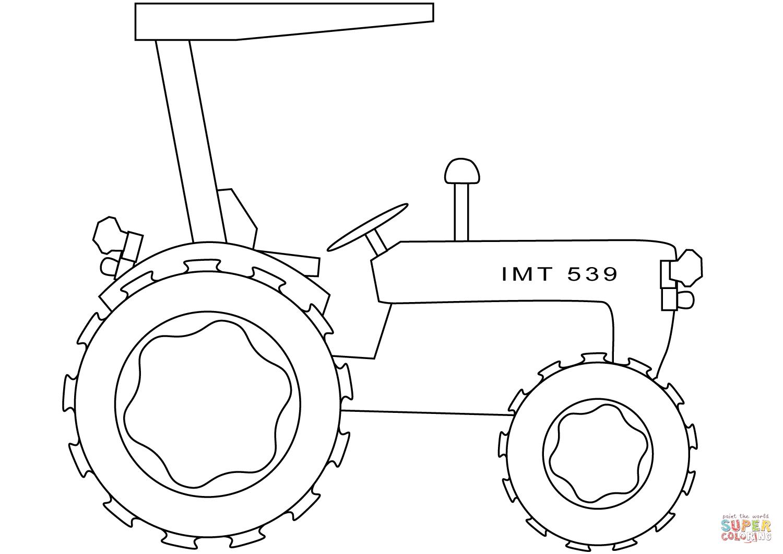 Dibujo De Tractor Sencillo Para Colorear