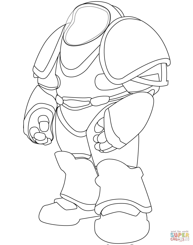 Dibujo De Traje De Astronauta Para Colorear