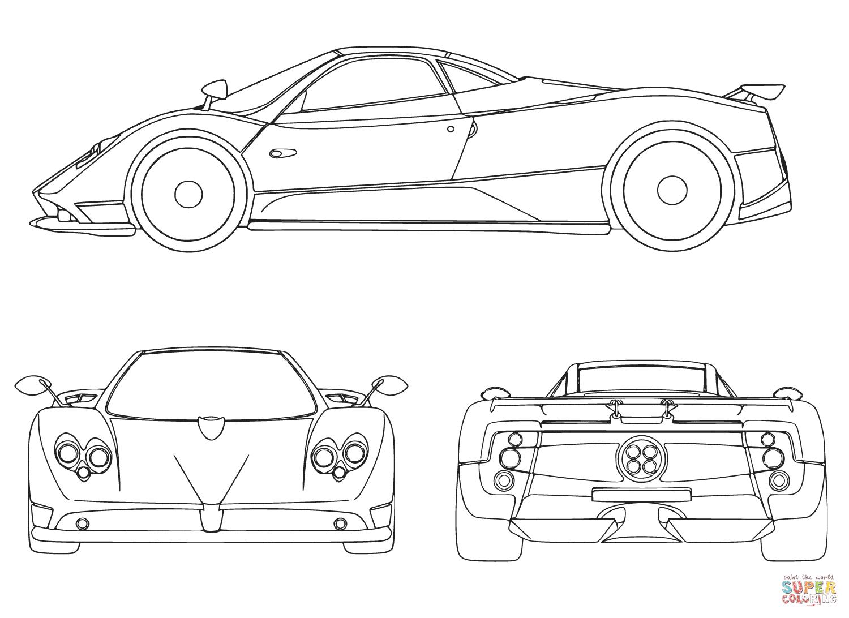 Ausmalbild Sportwagen