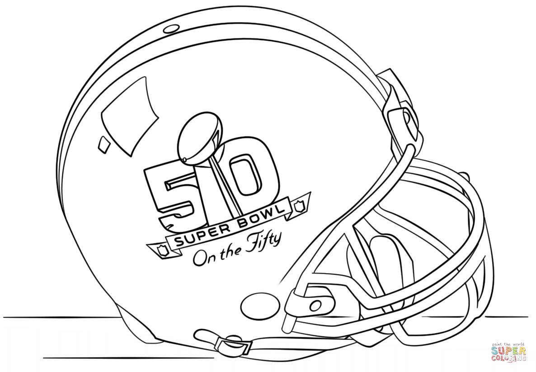 Super Bowl Helmet Coloring Page