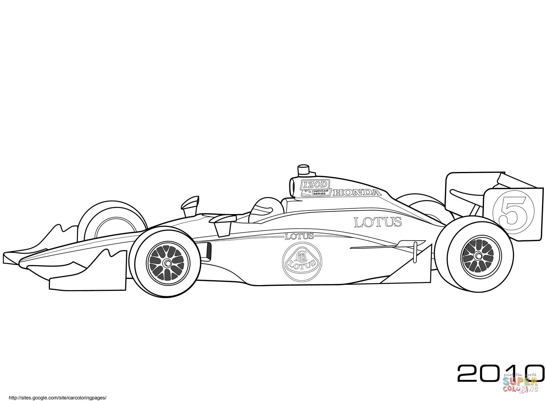 Takuma Sato Lotus Indy Car Coloring Page