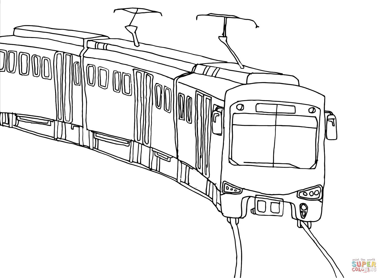 Dibujo De Tren Urbano Para Colorear