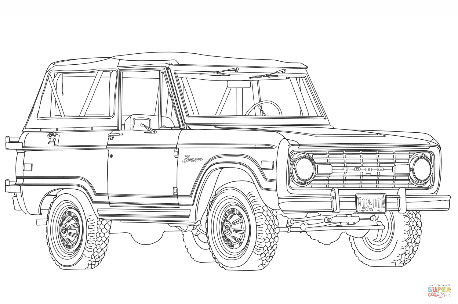 Ford Bronco Coloring Page