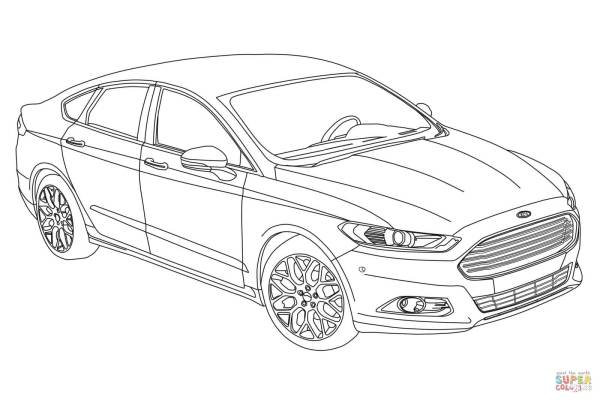 ford coloring pages # 1