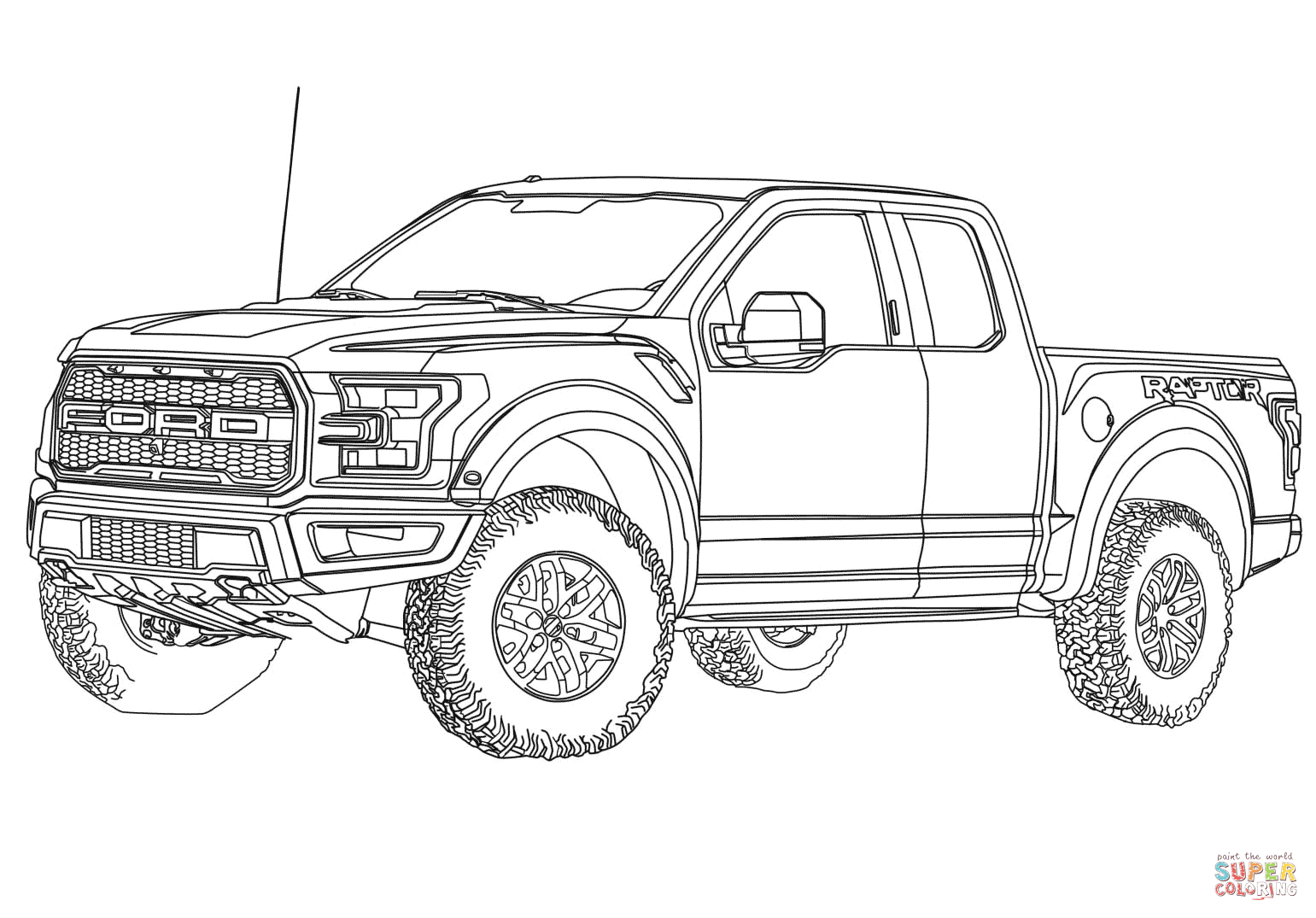Ford F 150 Raptor Coloring Page