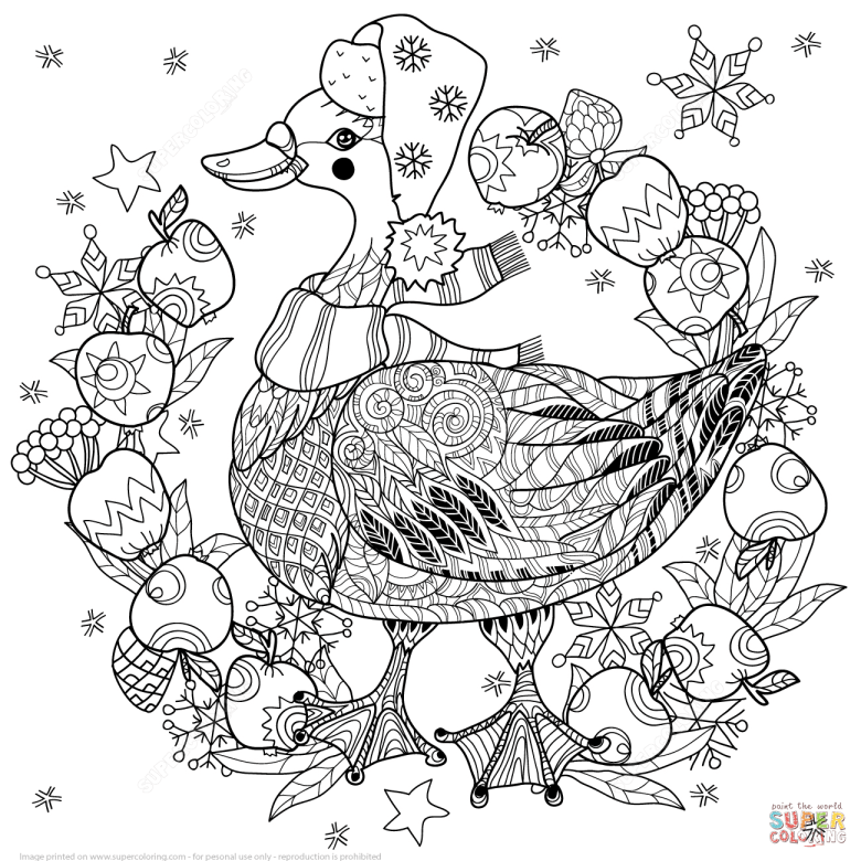 christmas tree zentangle coloring page | free printable coloring pages