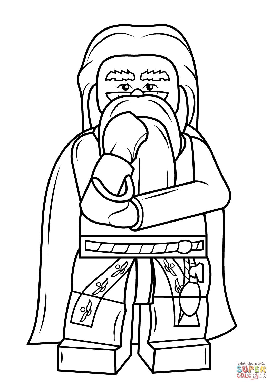Lego Albus Dumbledore Coloring Page