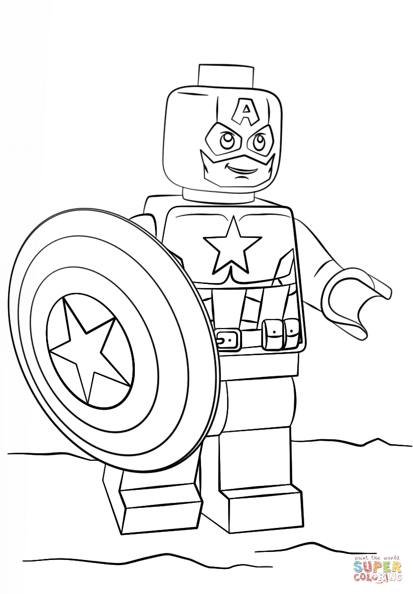 List of Captain America Lego Coloring Pages Pict - Best Pictures