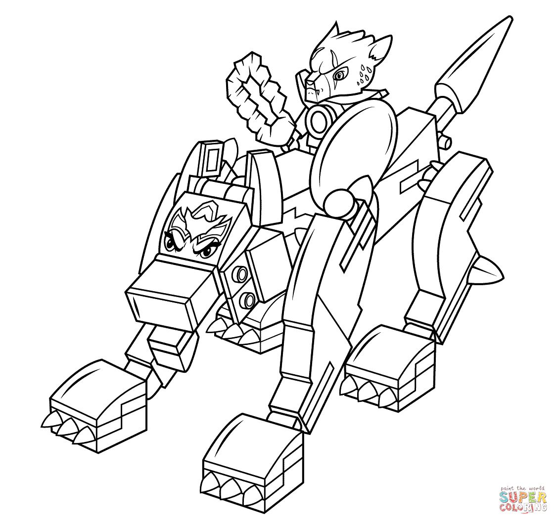 Lego Chima Wolf Coloring Page