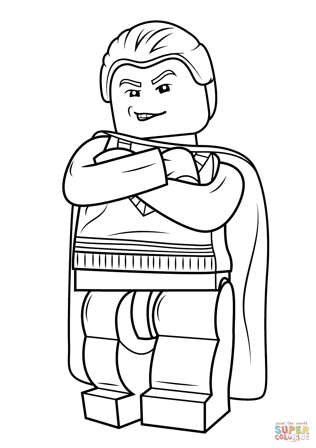 Lego Draco Malfoy Coloring Page