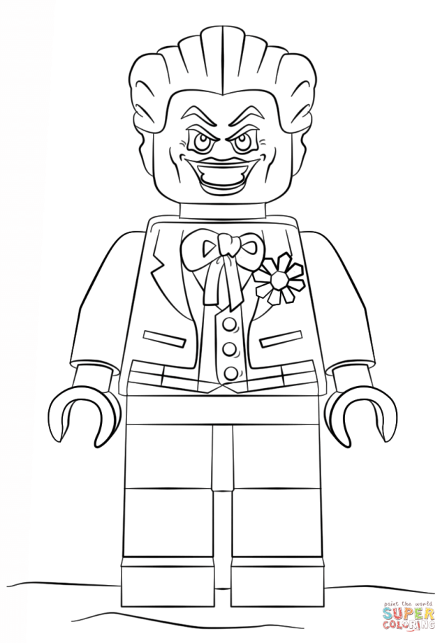 Lego Joker coloring page  Free Printable Coloring Pages