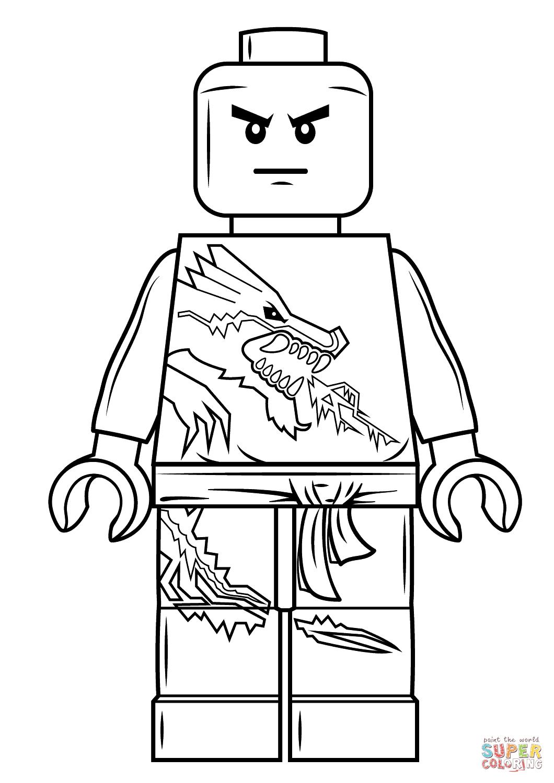 Lego Ninjago Zane Coloring Page