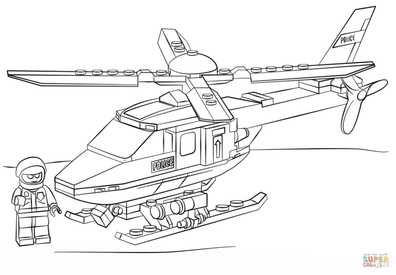 Desenho De Lego Helicoptero Da Policia Para Colorir