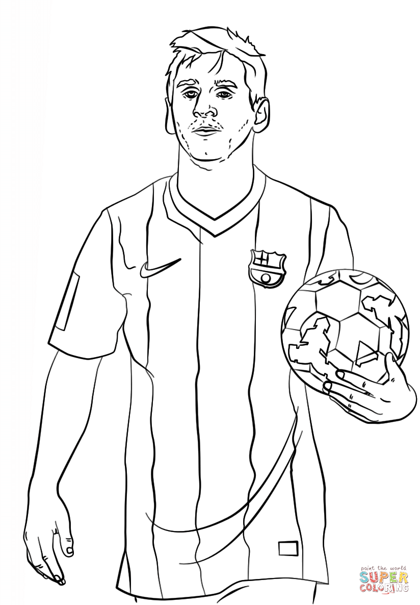 2015 Messi Coloring Pages ColoringColoringPrintable Coloring