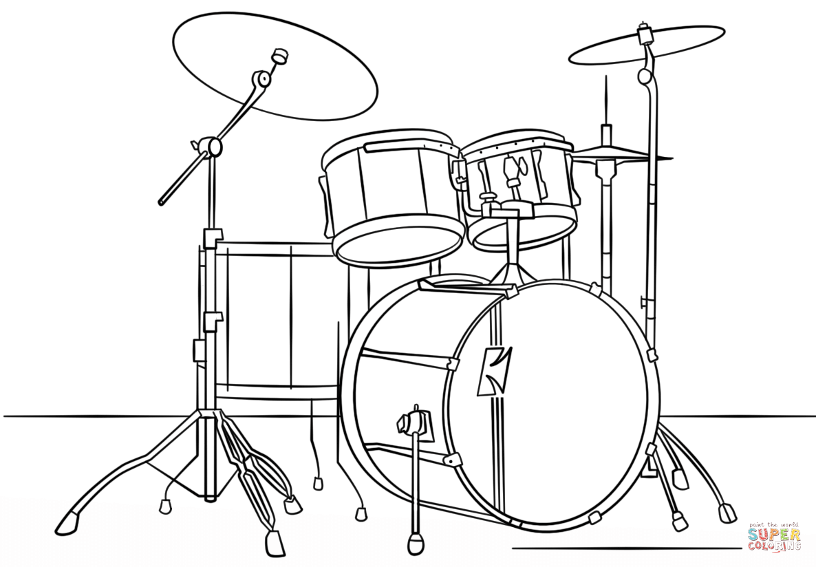 Percussion Family Coloring Page Pages