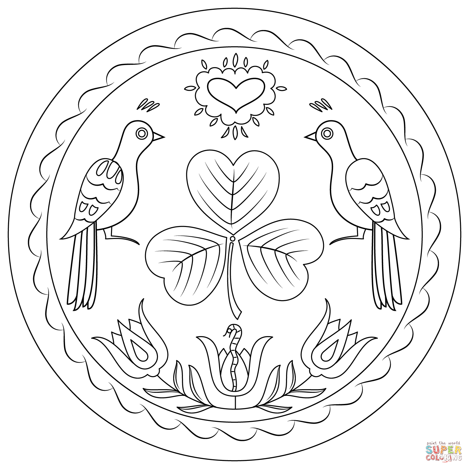 Pennsylvania Hex Sign Coloring Page