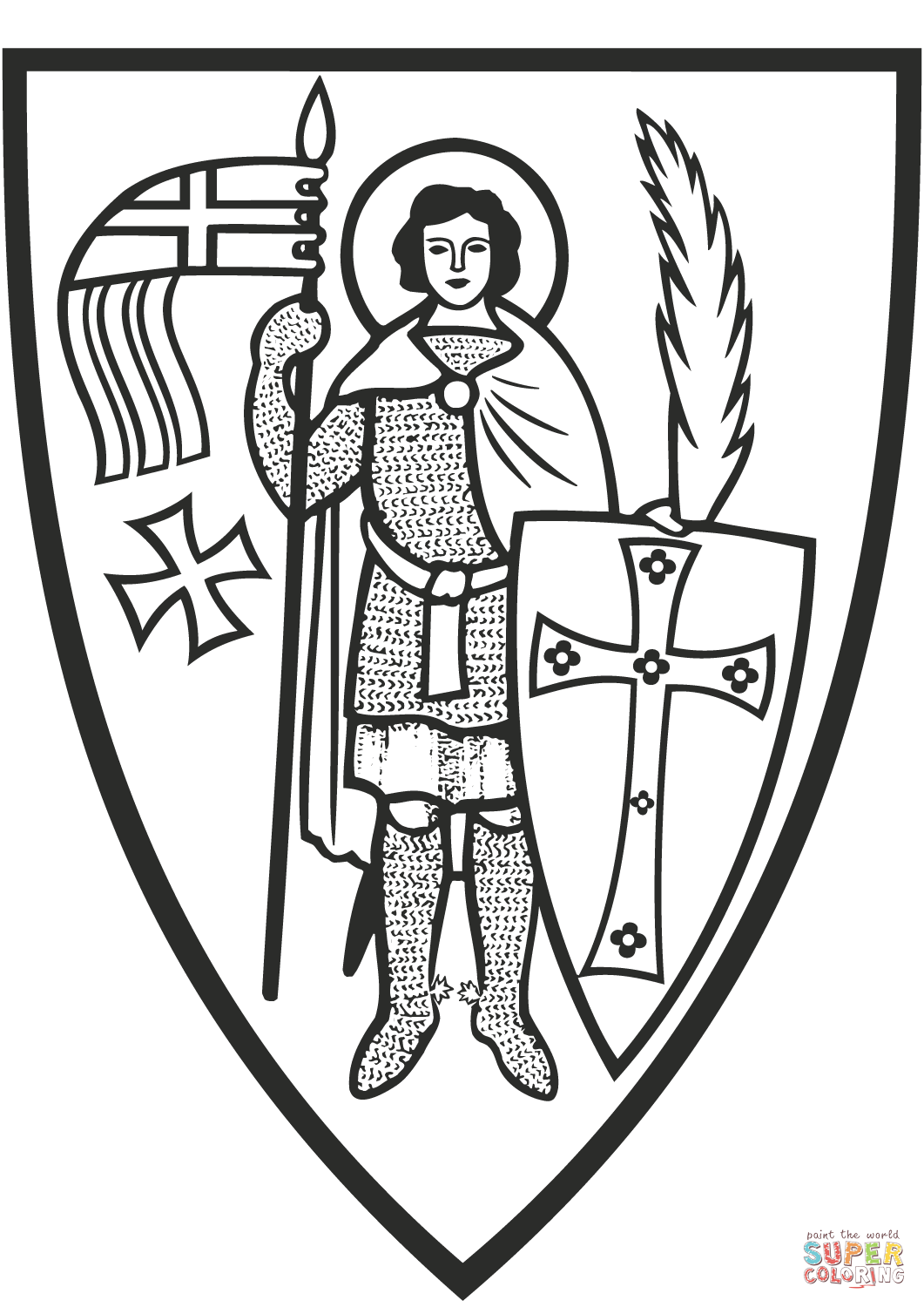 St George Coloring Page