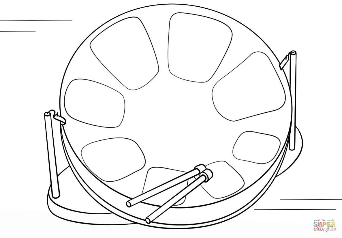 Steel Drum Coloring Page