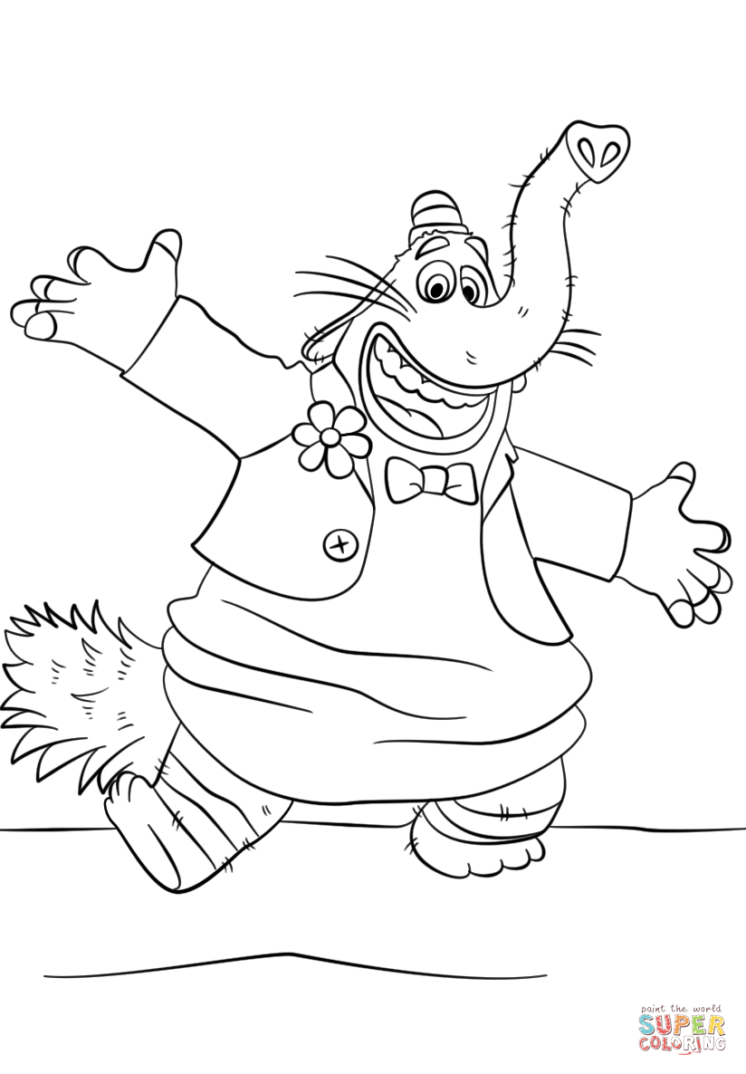 Bing Bong From Inside Out Coloring Page Free Printable Coloring