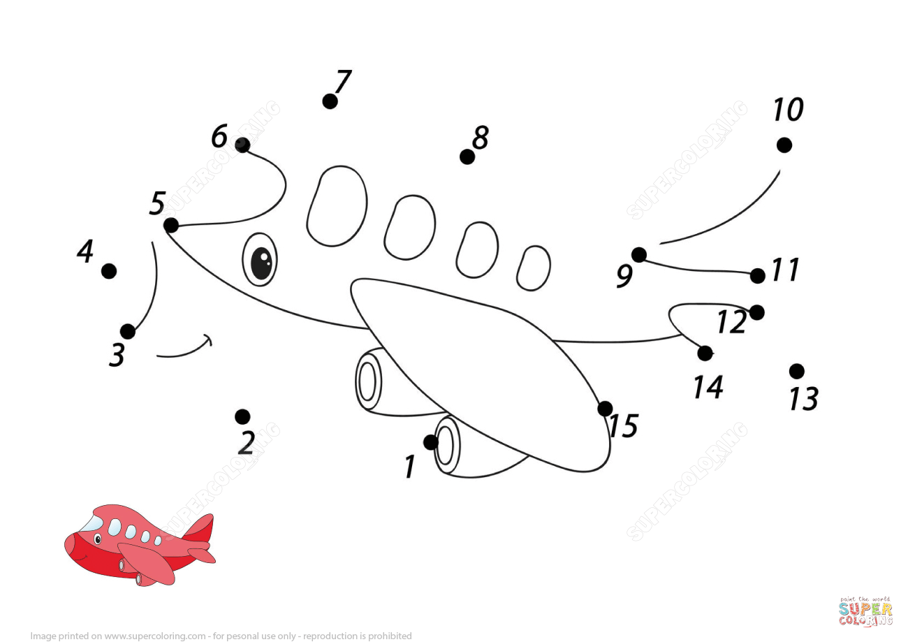 Cartoon Aircraft 1 15 Dot To Dot