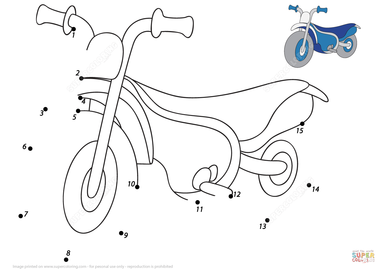 Cartoon Motorcycle 1 15 Dot To Dot