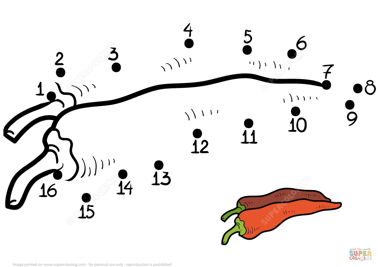 Chili Pepper Dot To Dot