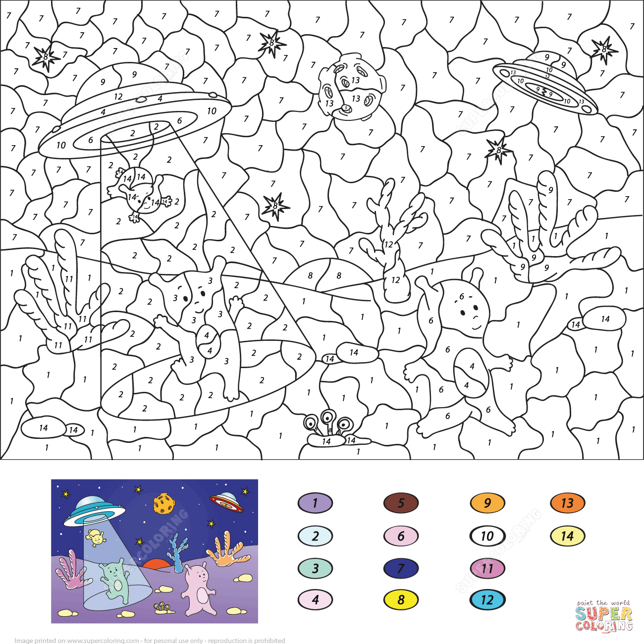 French Color By Numbers Coloring Pages
