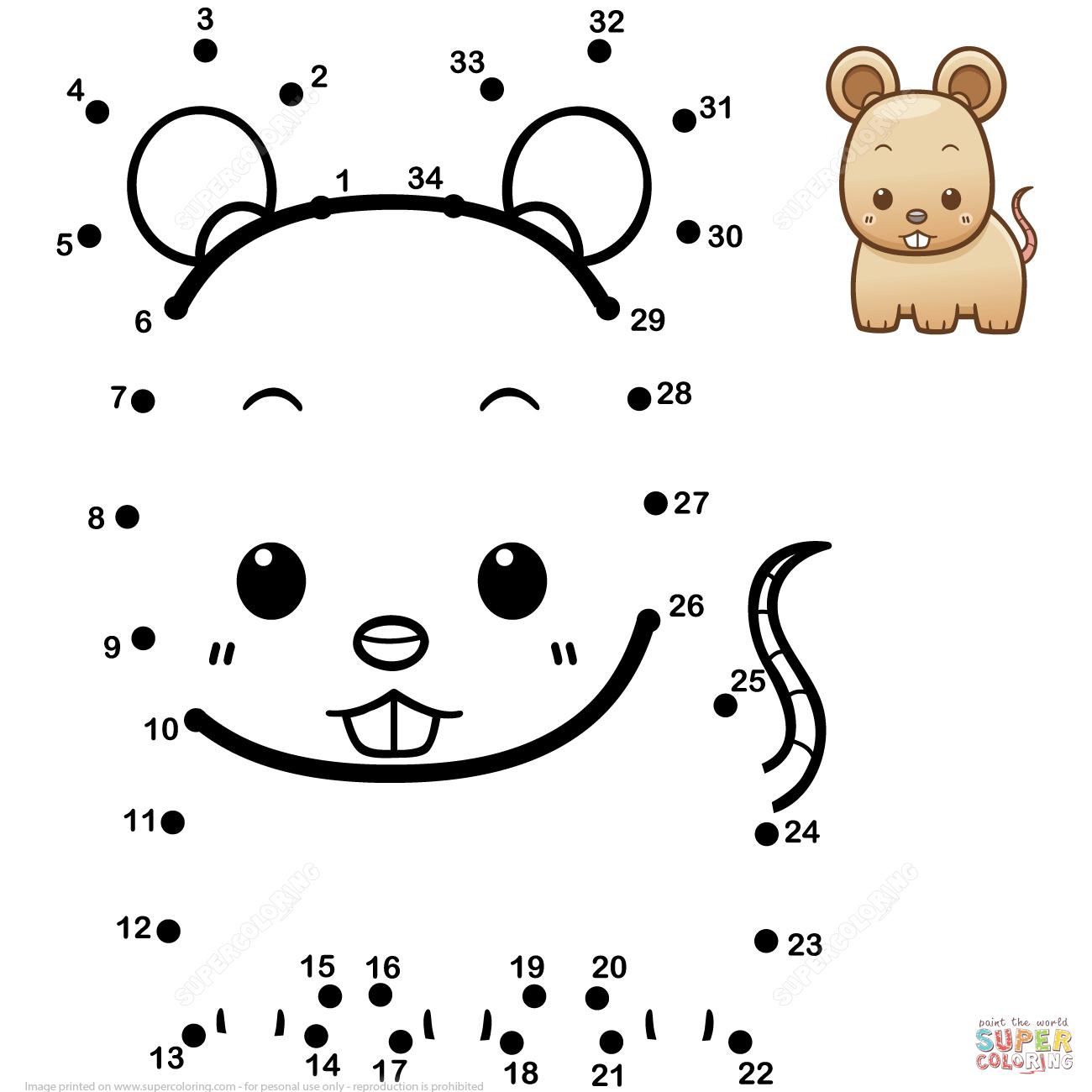 Cute Baby Rat Dot To Dot