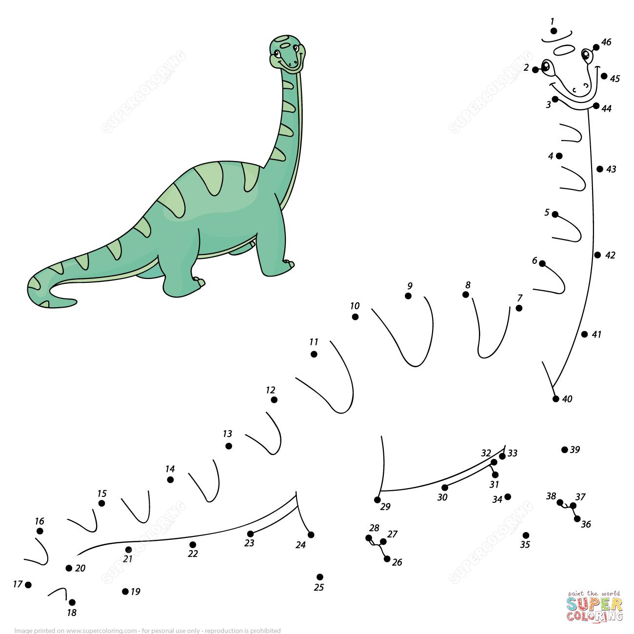 Diplodocus Dot To Dot
