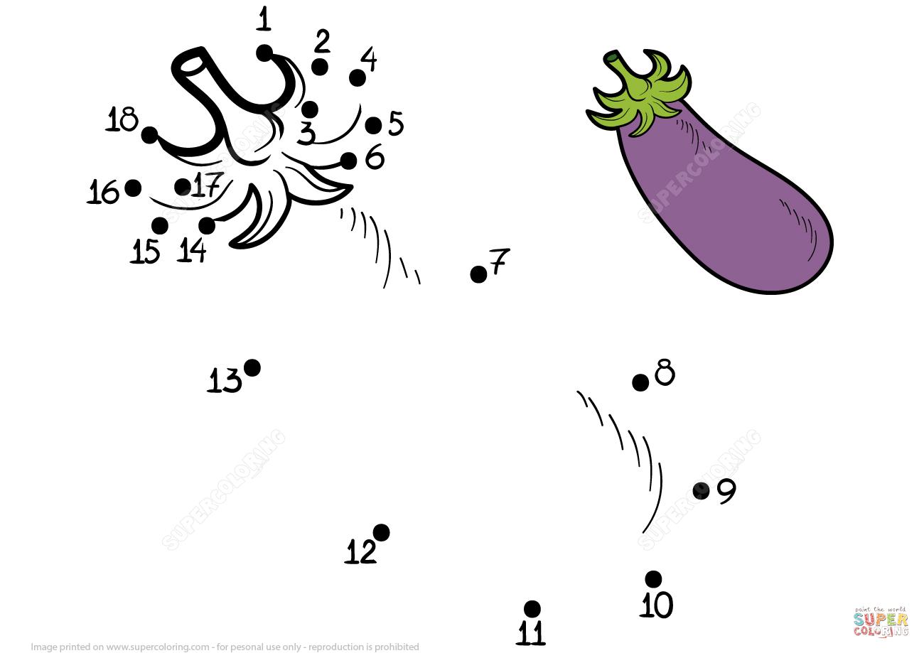 Eggplant Dot To Dot