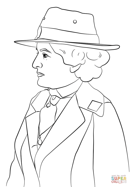 Juliette Gordon Low Coloring Sheet Coloring Pages