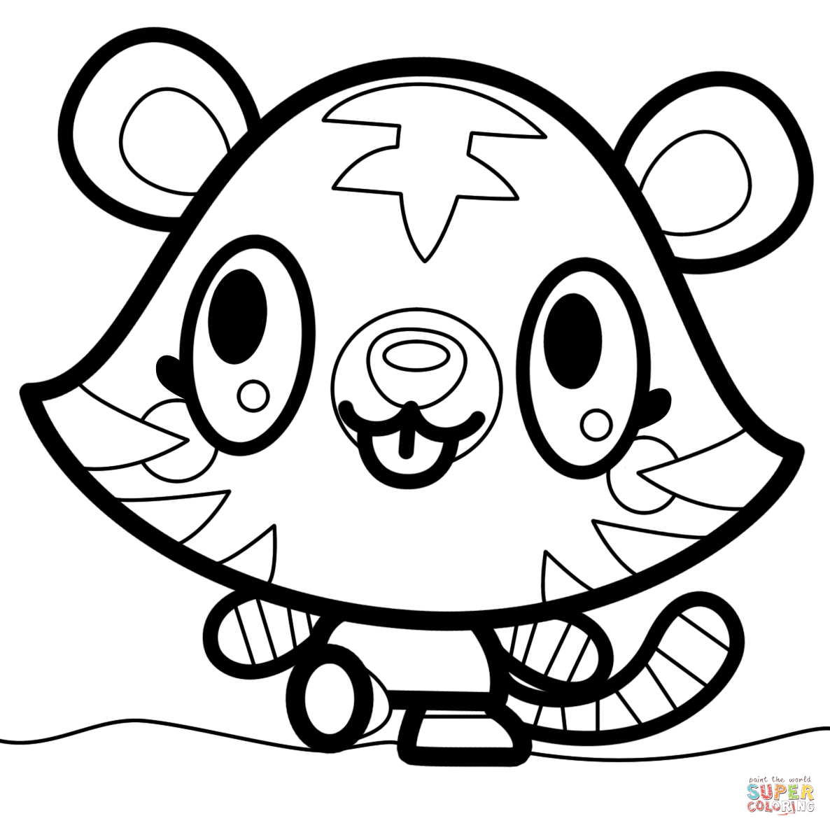 Moshi Monsters Jeepers Coloring Page