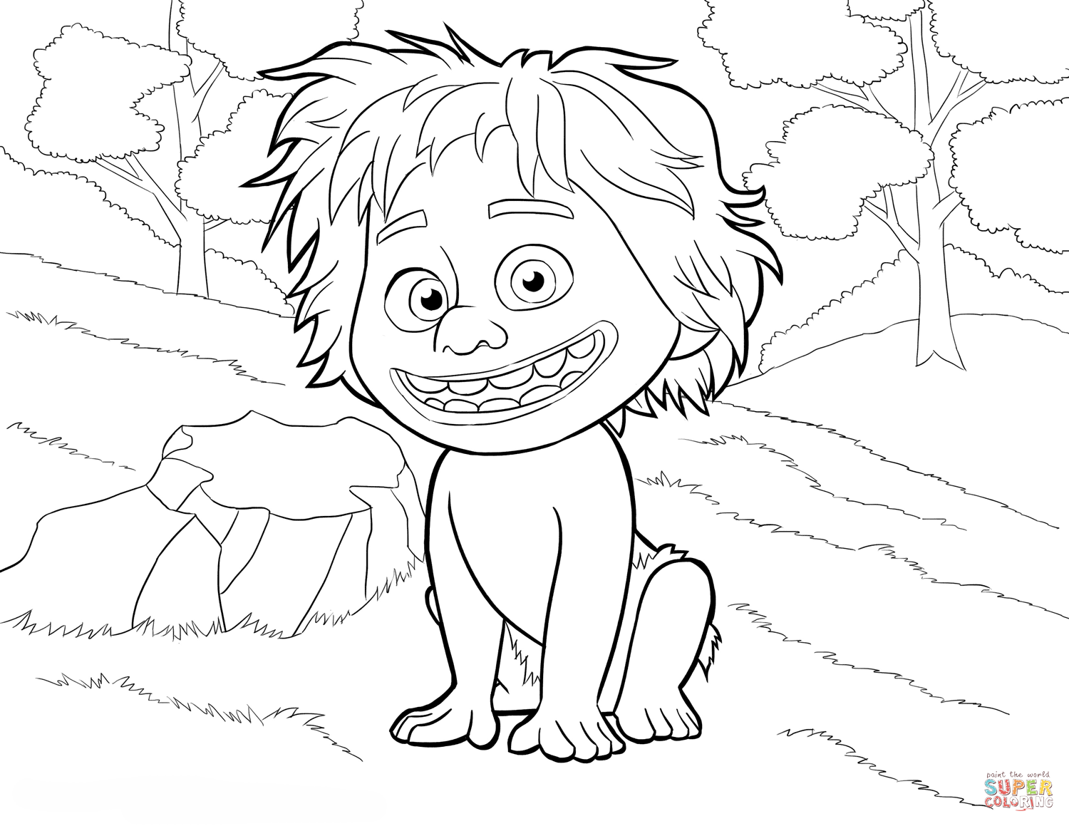 Spot From The Good Dinosaur Coloring Page