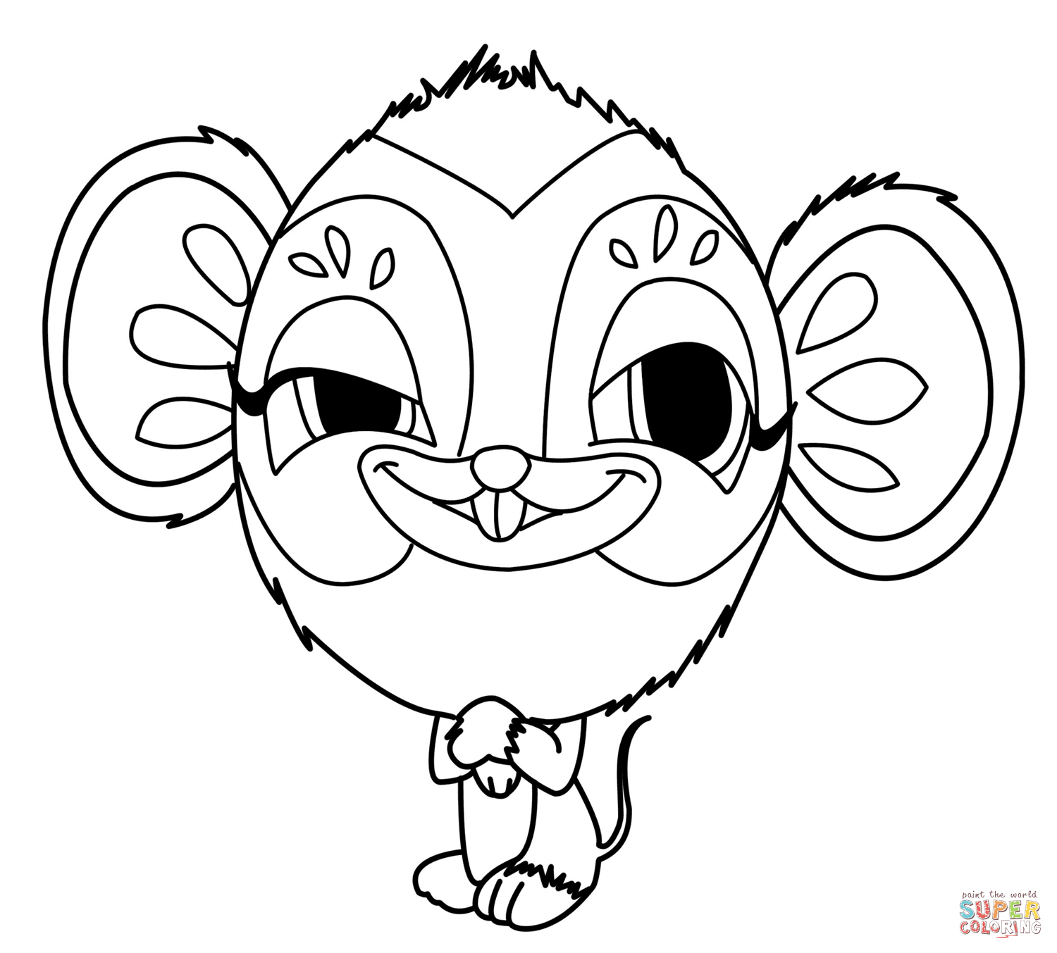 Zooble Mouse Coloring Page