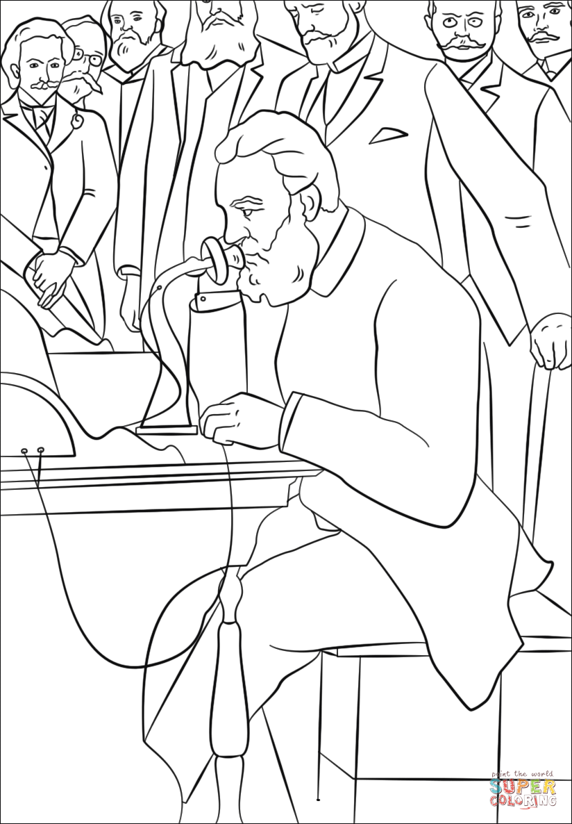 alexander graham bell coloring page Coloring Page for kids
