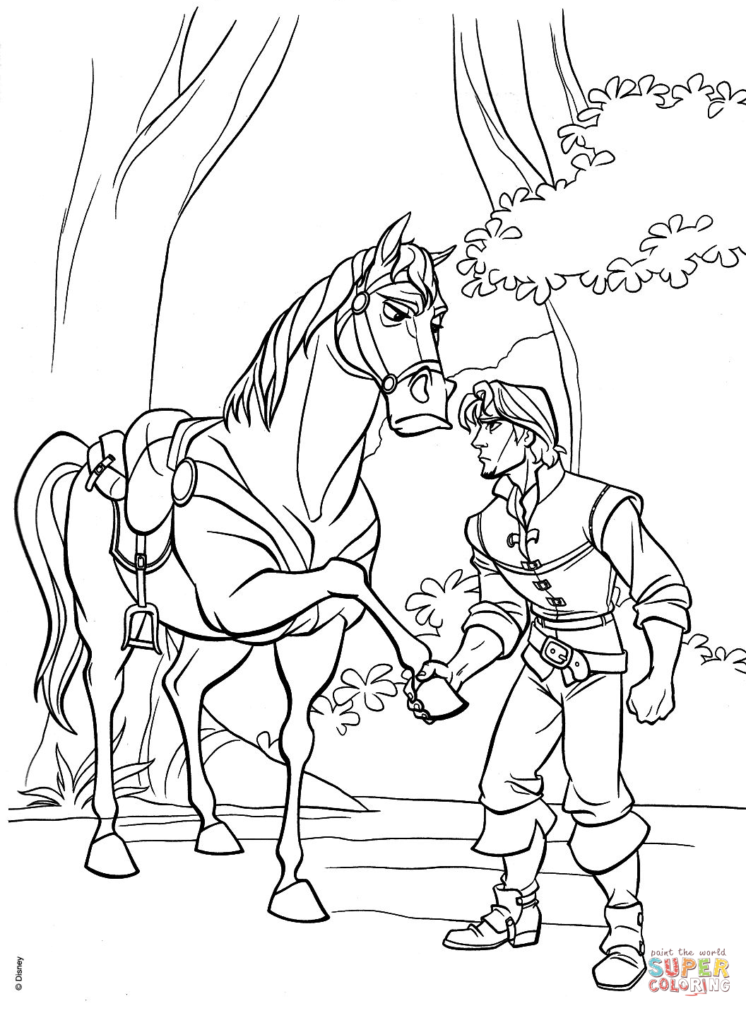 Flynn And Maximus Agree To A Truce Coloring Page