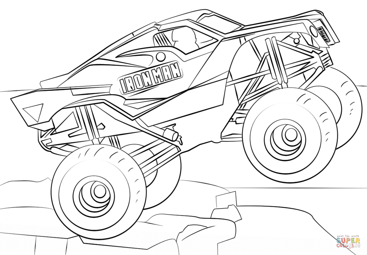 Iron Man Monster Truck Coloring Page