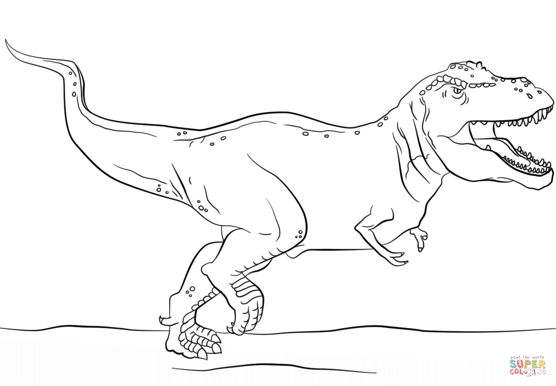 Jurassic Park T Rex Coloring Page
